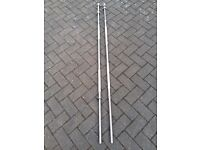 6FT SOLID CHROME BARBELL WITH SPINLOCKS