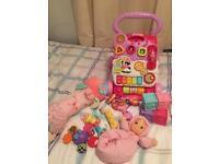 Baby girls toy bundle