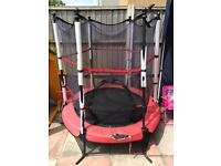 4.5ft trampoline with enclosure FREE