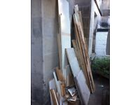 Timber / Wood from removal of fitted wardrobes