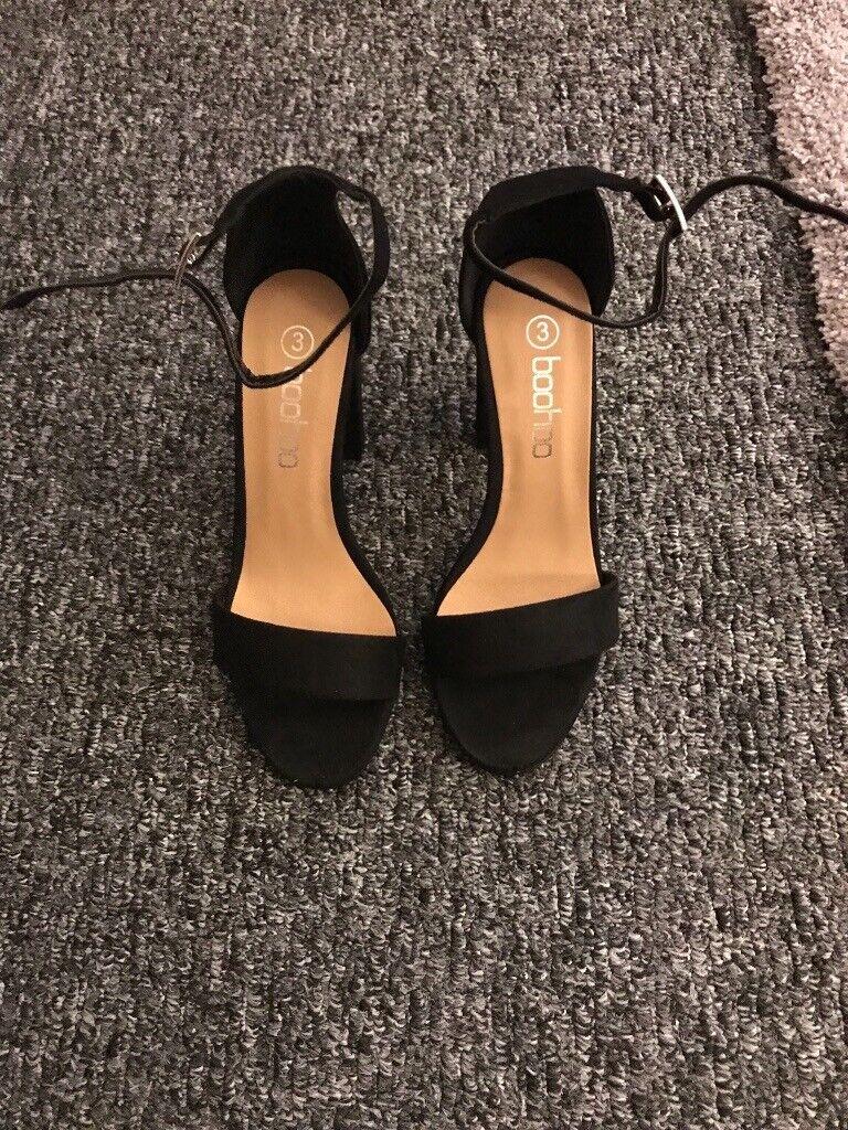 4f45a9b6a00e Women s Boohoo Black Suede Block Heel Sandals