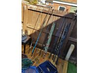 coarse/float/carp fishing set up rods
