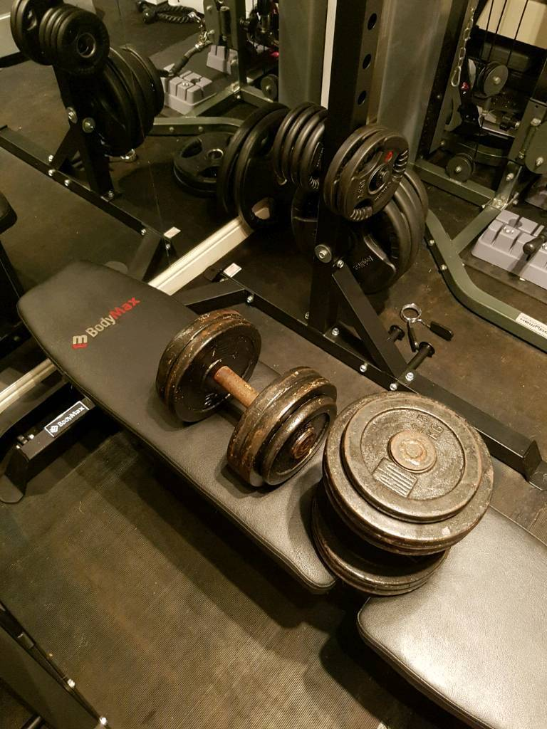 SOLD PENDING COLLECTION, OTHERS STILL AVAILABLE 27.5kg old school heavy dumbbells