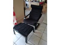 Ikea chair and foot stool new.