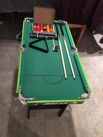 Snooker/pool table 2 in 1