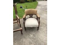 Vintage antique chairs and sofas ideal for upholstery projects