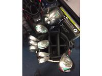 MacGREGOR GOLF SET. DRIVER, 5 WOOD, 4&5 HYBRID, 6-PW IRONS