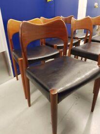 Danish design chairs Arne Hovmand Olsen and table