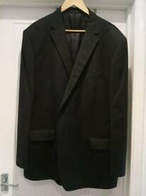 Men's jacket navy/white stripe 50l
