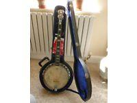 Quality Martin 5 string bluegrass banjo