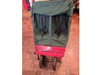 Mountain Buggy Terrain Double pushchair with carrycot and rain covers