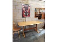 Vintage Ercol Solid Elm Table