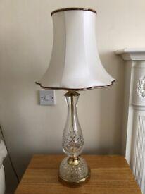 Cut crystal brass table lamp