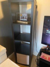 Ikea Kallax black shelving unit