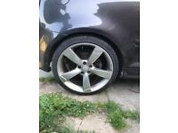 """Audi rs3 19"""" rotors 8.5j wide all good tyres could do with refurb"""