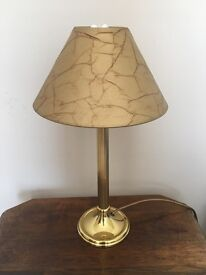 Gold table lamp and gold lampshades