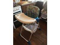 High chair only used a few time