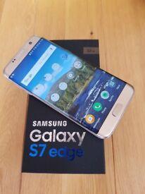 Samsung Galaxy S7 Edge, Platinum Gold 32GB, excellent condition, unlocked with original box etc