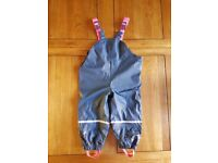 [EXCELLENT CONDITION] WATERPROOF TROUSERS FOR GIRL 12-24 MONTHS OLD