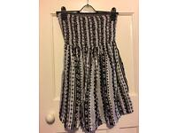 Firetrap black and white dress fab condition