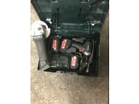 Metabo DRILL, GRINDER, 3xBATTERYS