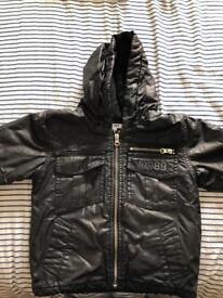Boys black DKNY coat