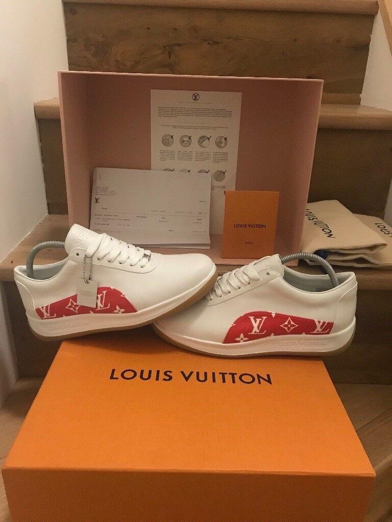 New Supreme Louis Vuitton Monogram sneaker. Size 7UK