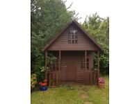 Wooden outdoor playhouse **REDUCED PRICE** -three storey, kids will love it!