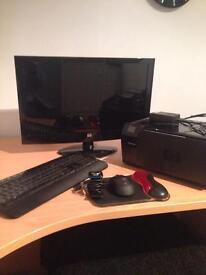 Monitor, keyboard, mouse and mat,printer and Skype camera