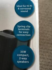"""4"""" 35 watt compact 2 way speakers"""