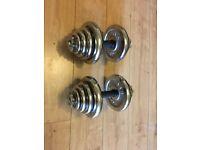 York Fitness Chrome Dumbbells set 40 KG,