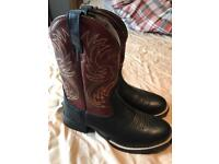 As new ariat men's cowboy boots size 8