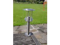 Stainless Steel Gate Post / External Lamp