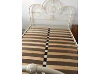 Ornate Cream Iron Double Bed