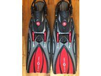 Aqualung Slingshot Fins, Red, Size Regular