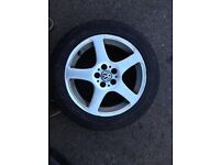 vw golf mk4 16 inch 5 spoke alloy wheels and tyres £100