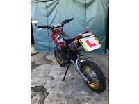 Pitbike thumpstar 125cc (( Road legal))