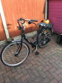 Saxonnette luxus Dutch Bike with Sachs engine built in