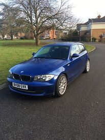 BMW one series 118i 2.0ltr 2008 blue