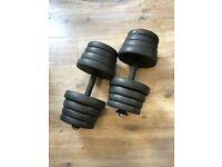 Adjustable Dumbbells up to 30kg (2 dumbells)