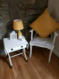 SHABBY CHIC DROP LEAF SIDE TABLE