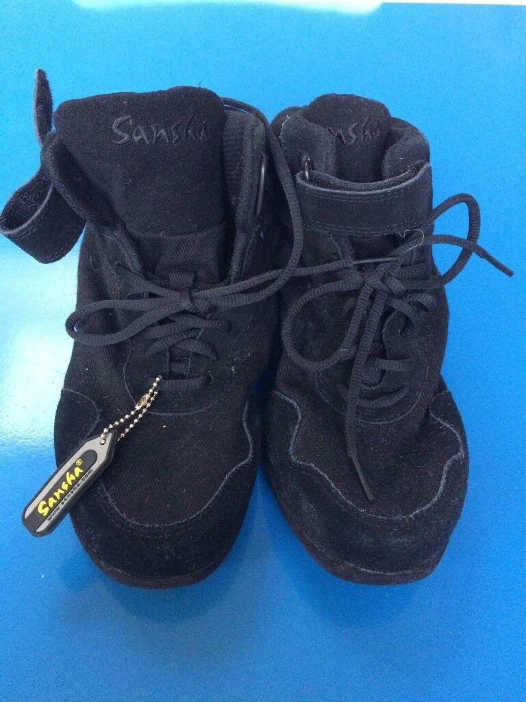 Sansha Boomerang Canvas Boot Split Sole Jazz Shoe 2ceed19364b