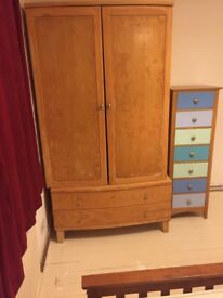 Solid wood wardrobe £200