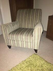 Striped Green Next Armchair