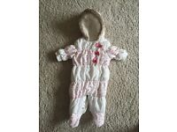 Baby girl 0-3 months snowsuit