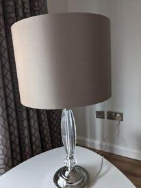 Dunelm crystal & chrome effect table lamp