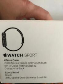 Apple Watch 42mm Space Grey as new
