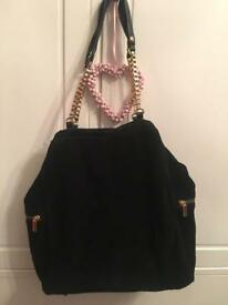 Topshop Black Bag Real Suede