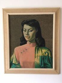 Vintage Retro Original Tretchikoff Print 'Miss Wong'