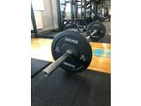 New - 7ft Olympic Bar and 60kg of Olympic Bumper Plates